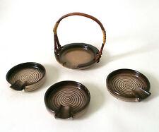 30s Carstens Uffrecht Keramik Raucherset german set of ash tray Art Deco ceramic