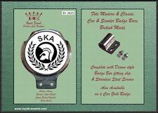 Royale AUTO SCOOTER BADGE BAR + RACCORDI-Trojan Laurel 2 TONE SKA-b1.2825