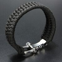 Bracelet de survie para Cord corde Camping boucle de Manille en acier BBFR