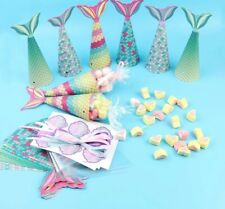 Mermaid Tail DIY Sweet Cone Kit Birthday Party Favour Bags Candy Boxes