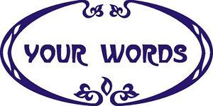 Door Window Personalised Art Nouveau Floral Sticker Vinyl Signs Shops Retail