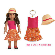 """American Girl JLY GARDENING OUTFIT for 18"""" Dolls Retired Clothes Skirt Hat NEW*"""