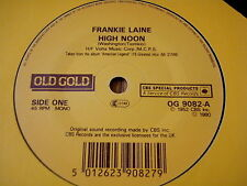 """FRANKIE LAINE - HIGH NOON / COOL WATER     7"""" OLD GOLD VINYL"""