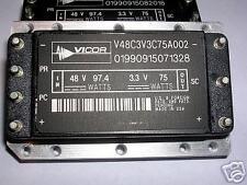 VICOR  V48C3V3375AD02  DC/DC CONVERTER 48V IN  3.3V OUT AT 75 WATTS NEW