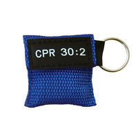 100 X CPR Face Mask Keychain CPR Face Shield Frist Aid CPR 30:2 Training Blue