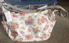 Cath Kidston Zipped Messenger White Floral Bag Bnwt