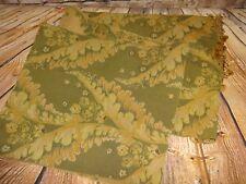 "Olive Sage Green Gold Table Runner Tapestry Tassles 76"" x 16"""