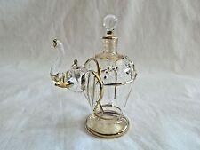 Beautiful Hand Blown Egyptian Glass Elephant Perfume Bottle WOW!