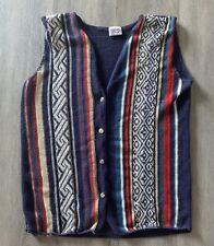 Backroad Blues Jeanswear Hipster Indie Geometric Hip-Hop Mens Large Button Vest