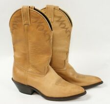 LAREDO Light Brown Tan Leather Western Cowboy Cowgirl Made in USA Boots Women 8.