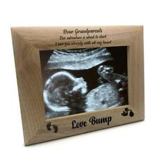 New Baby Pregnancy Scan Wooden Photo Frame Grandparents Gift FW-29