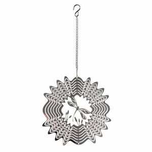 Stainless Steel Stereo Rotating Metal Wind Chime Decoration Hanging Wind Outdoor