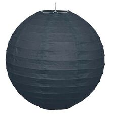 """Black 10"""" Paper Lantern Hanging Decoration - Ideal for Parties & Events - New"""