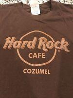 Hark Rock Cozumel Men's Tee Shirt 2XL Leather Writing Brown