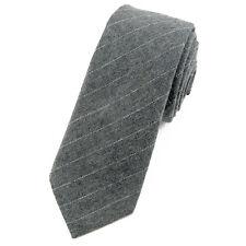 CRAVATE pour homme 6 cm Coton Gris à rayures - Grey stripes Necktie cravatte