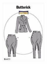 Butterick Costume SEWING PATTERN B6433 Misses Jacket,Jodhpurs & Breeches