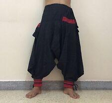 Black Unisex HAREM PANTS Fashion Baggy BOHO Hippie Yoga Trousers Islamic Prayer