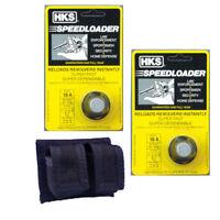 HKS 6-shot Speedloader FITS 357 AND 38 S&W K-Frame Rossi 971 Taurus 10-A & Case