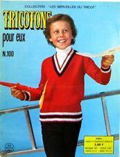 Revue de mode Catalogue de tricot - Tricotons pour eux n°100  - Année 60 -