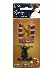 GOODY COLOUR COLLECTION SLIDEPROOF CLAW HAIR CLIPS - BRUNETTE - 2 PCS.(76785)