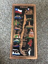 Copper Foil Map Of Chile