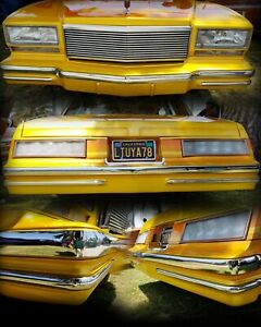 1978-1980 Chevy Monte Carlo Bumper Moldings - Chrome