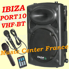 IBIZA PORT 10 VHF-BT enceinte amplifiée bluetooth USB SD MP3 - NEUF G= 2 ANS