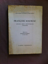 FRANCOIS MAURIAC - manuscrits - inédits - éditions originales - iconographie.