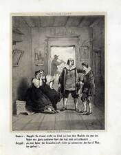 Bauer sucht Frau - Karikatur - Lithographie 1855