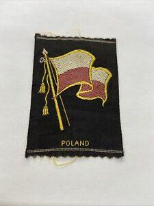 Vintage Poland Tobacco Silk The American Tobacco Co. Silk Flag Premium 3x2