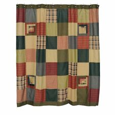 VHC Brands Tea Cabin Shower Curtain Patchwork 72x72
