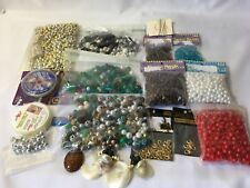 Lot of 1500+ Craft Jewelry making beads Glass Pony Findings Parts Pieces Mixed