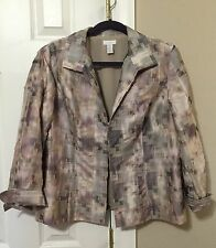 Excellent CHICO'S Jacket Blazer Size 2 (10-12 M/L ) Lined One Owner
