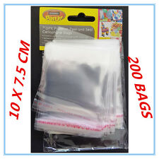 200 X PEEL AND SEAL CELLOPHANE BAGS - SMALL - MINI - PARTY, BIRTHDAY, EVENT