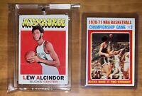LEW ALCINDOR 1971-72 Topps #100 KAREEM NBA Championship Card Lot Bucks 134