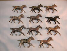 Toy Vintage Plastic Cowboy Western Riding Horses Lot of 11   T*