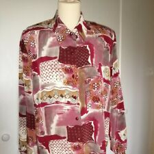 Vintage blouse.. Size 14-16, Multi Coloured In Immaculate Condition.