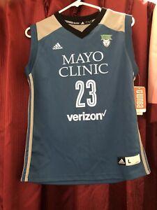 Maya Moore  Adidas Mayo Clinic Verizon Jersey Minnesota Lynx Kids Large NWT S2