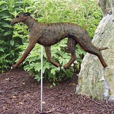 Greyhound Outdoor Garden Sign Hand Painted Figure Brindle