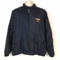 Vintage University of Michigan Wolverines Starter Jacket Mens L Full Zip Navy