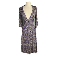 Saba Womens Size 8 Maxi Wrap Dress Fabric Made In France