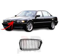 Per BMW 7 Serie E38 1999-2001 Nuovo Paraurti Anteriore Centrale Griglia Nero/