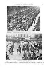 WWI Military Parade Sammies US Army NEW-YORK CITY USA ILLUSTRATION