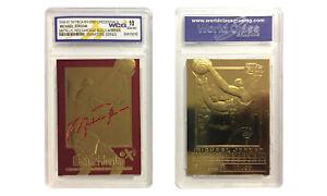 1996-97 MICHAEL JORDAN SKYBOX EX-2000 CREDENTIALS 23K GOLD CARD GEM MINT 10 RED