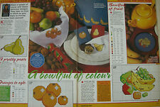 Quick And Easy Fruit and Nuts Cross Stitch Chart By Debra Page