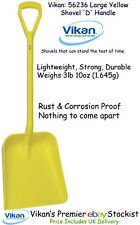 Vikan Shovel Large Lightweight Strong Plastic Rust Proof Food Snow Manure Yellow
