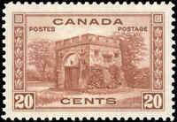 1938 Mint Canada VF Scott #243 20c Pictorial Issue Stamp Hinged