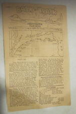 WWII BACK-TRACK Military Newspaper & Separation List Camp Beale CA. Oct.1946 VGC