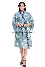 Women's Cotton Bath Robe Housecoat Dressing Gown Dress Bathrobe Indian Kaftan