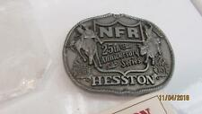 Vintage Nfr Hesston 25Th Anniversary Belt Buckle W Catalog Free Priority Ship